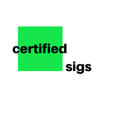 Certified Sigs - Michael Betlinski