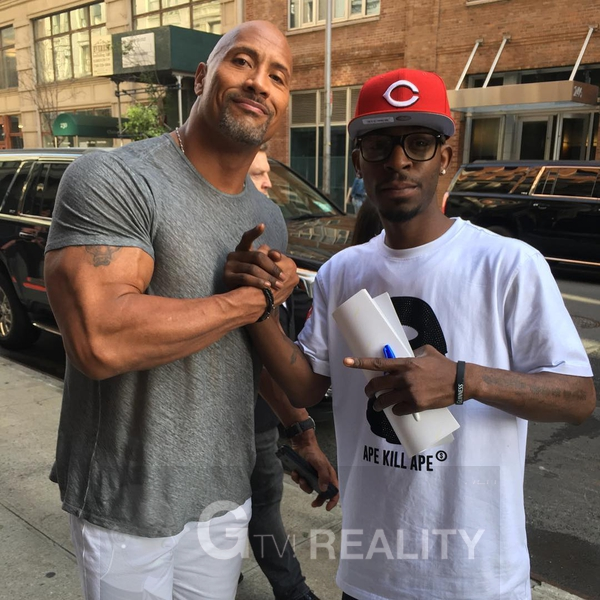 Dwayne Johnson Photo with RACC Autograph Collector GTV Reality