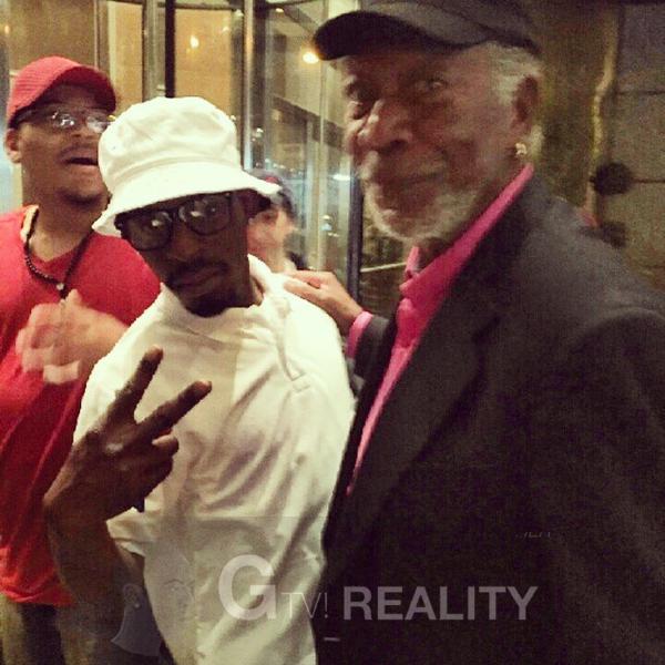 Morgan Freeman Photo with RACC Autograph Collector GTV Reality