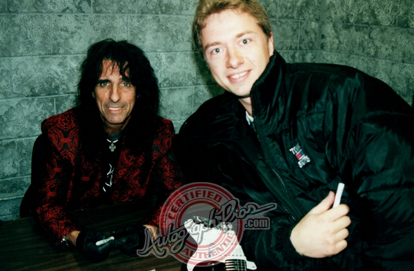 Alice Cooper Photo with RACC Autograph Collector Autograph Pros
