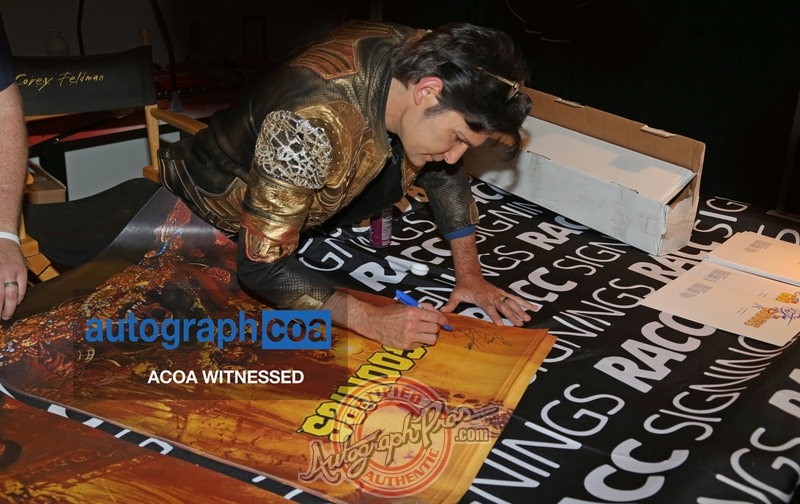 Corey Feldman Proof Signing Photo from RACC Autograph Collector Autograph Pros