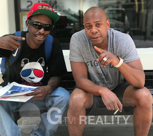 Dave Chappelle Photo with Authentic Autograph Dealer GTV Reality