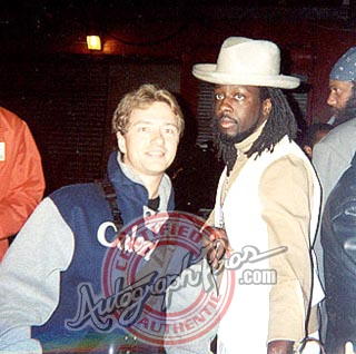 Wyclef Jean Photo with Authentic Autograph Dealer Autograph Pros