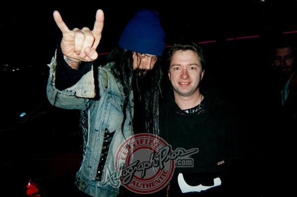 Rob Zombie Photo with Authentic Autograph Dealer Autograph Pros