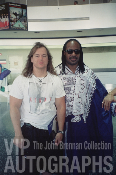 Stevie Wonder Photo with RACC Autograph Collector John Brennan