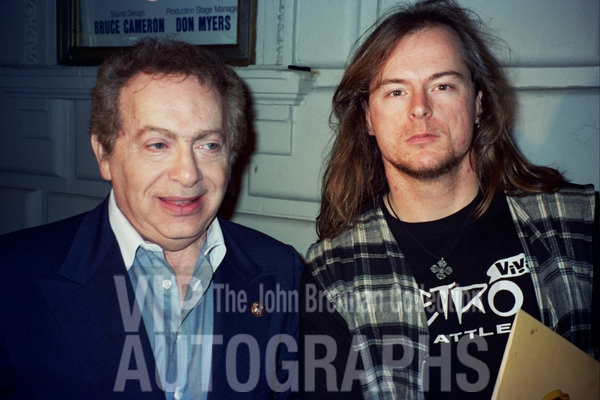 Jackie Mason Photo with RACC Autograph Collector John Brennan