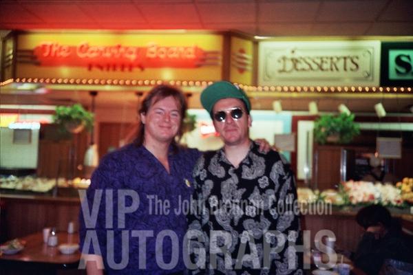 Elvis Costello Photo with Authentic Autograph Dealer John Brennan