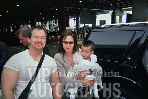 Angelina Jolie Photo with RACC Autograph Collector John Brennan