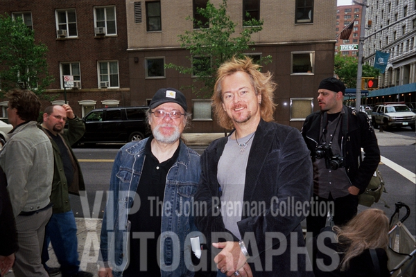 Tommy Ramone Photo with RACC Autograph Collector John Brennan