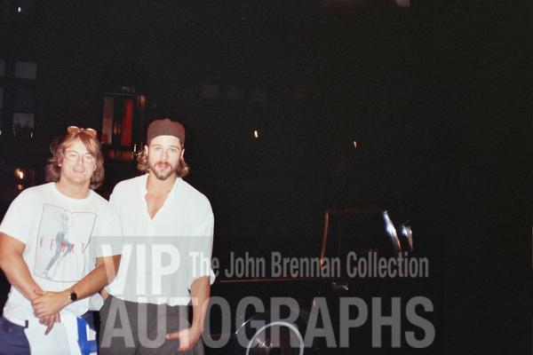 Brad Pitt Photo with RACC Autograph Collector John Brennan