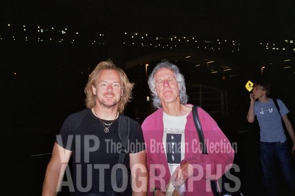 John Densmore Photo with RACC Autograph Collector John Brennan