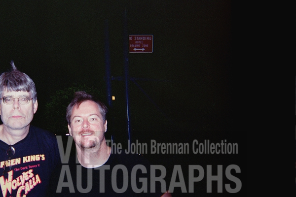 Stephen King Photo with RACC Autograph Collector John Brennan