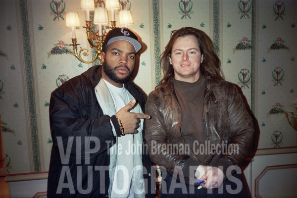Ice Cube Photo with RACC Autograph Collector John Brennan