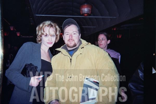 Angelina Jolie Photo with RACC Autograph Collector John Brennan