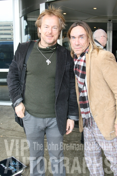 Iggy Pop Photo with RACC Autograph Collector John Brennan