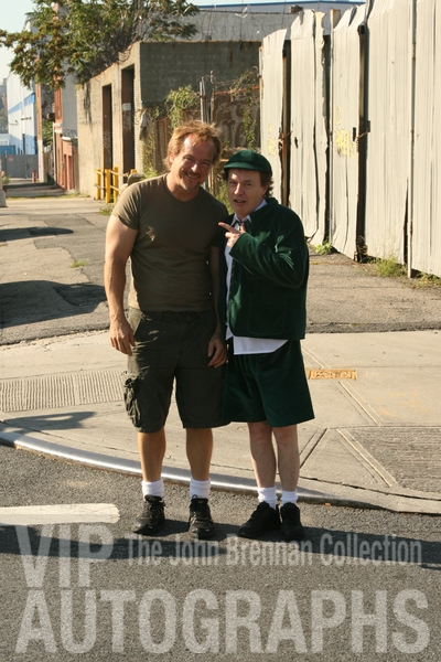 Angus Young Photo with RACC Autograph Collector John Brennan