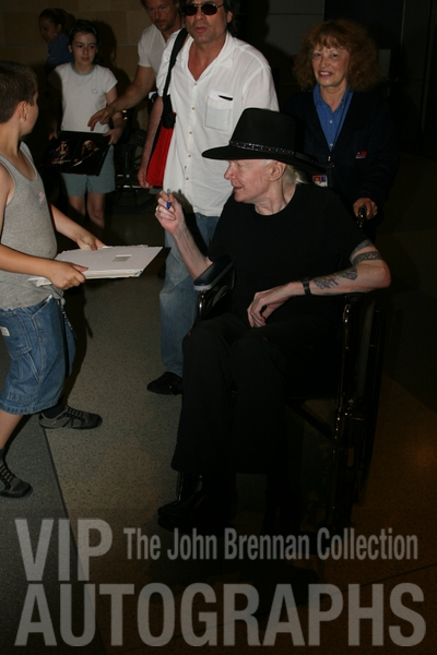 Johnny Winter Proof Signing Photo from RACC Autograph Collector John Brennan