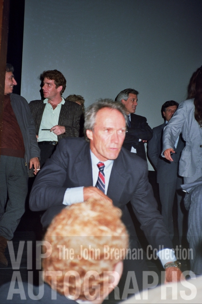 Clint Eastwood Proof Signing Photo from RACC Autograph Collector John Brennan