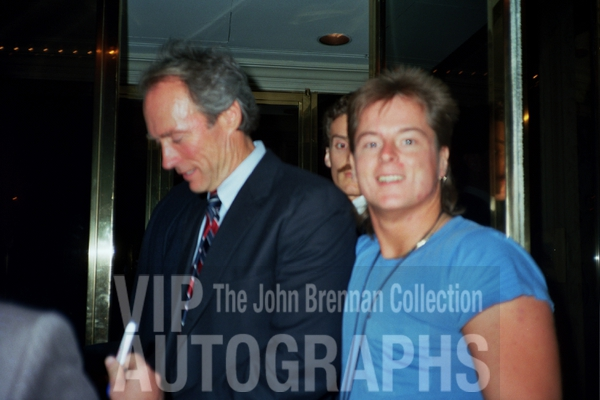 Clint Eastwood Photo with RACC Autograph Collector John Brennan
