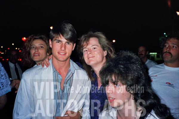 Tom Cruise Photo with RACC Autograph Collector John Brennan