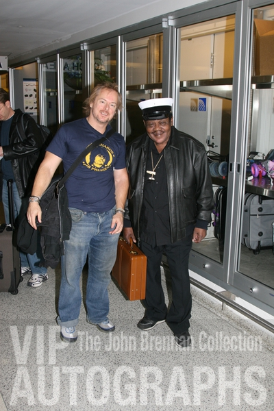 Fats Domino Photo with RACC Autograph Collector John Brennan