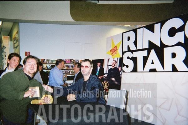 Ringo Starr Photo with RACC Autograph Collector John Brennan