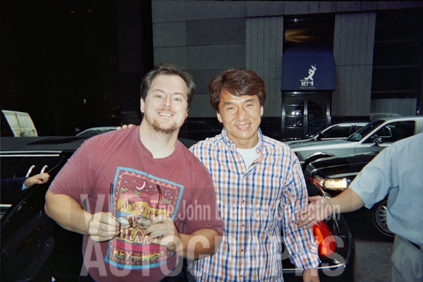 Jackie Chan Photo with RACC Autograph Collector John Brennan