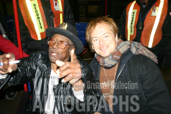 Bo Diddley Photo with RACC Autograph Collector John Brennan